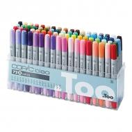 Набор маркеров для рисования и дизайна Copic Ciao Set A, 72 цвета + ПОДАРОК Скетчбук
