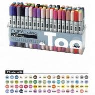 Набор маркеров для скетчинга Copic Ciao Set B с кистью, 72 цвета