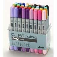 Набор маркеров для рисования Copic Ciao Set A, 36 цветов
