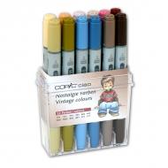 Набор маркеров для рисования и дизайна Copic Ciao Винтаж, 12 цветов + ПОДАРОК Скетчбук