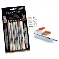 """Набор маркеров для рисования, скрапбукинга """"Copic Ciao Scrap Set1"""", 5 цветов, блендер"""