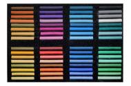 """Пастель сухая художественная мягкая Аква-Колор набор 64 цвета """"Мастерская художника"""""""
