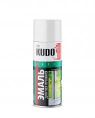 Эмаль для ПВХ профиля Kudo, аэрозоль, 520 мл, белая
