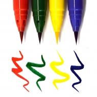 Акварельные маркеры-кисти ZIG Clean Color Real Brush, набор « Pure Colours», 4 цвета