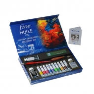 Набор масляных красок Fine Huile Lefranc&Bourgeois, 17 предметов, в т.ч. 10 туб*20 мл, белила 1*40 мл