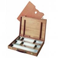 Ящик художника для хранения красок и кистей Mabef, 30x40 см, бук