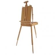 Большой этюдник для красок, кистей и рисования Mabef, размер 44x56x16 см., натуральный бук