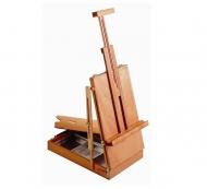 Настольный этюдный ящик для хранения красок, кистей и рисования Mabef, размер 30x45x90 см
