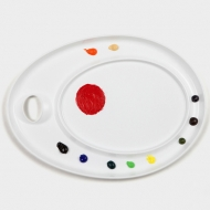 "Палитра для акриловых красок Mijello ""Ellipse XL Peel-Off"", 435х315х24 мм, пластик"
