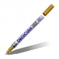 Перманентные лаковые маркеры Marvy «DecoColor» для декора и маркировки, 0,75 мм, цвет: золото и серебро