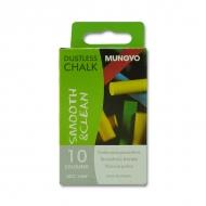 Набор круглых цветных беспылевых мелков Mungyo 10 штук