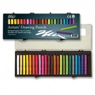 Набор сухой пастели Ассорти Mungyo GALLERY Drawing, 24 цвета, квадратная, в пластиковой коробке