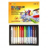Набор акварельной пастели MUNGYO Watercolor Crayons Triangular Shaped, трехгранные мелки, 12 цветов