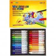 Набор акварельной пастели MUNGYO Watercolor Crayons Triangular Shaped, трехгранные мелки, 24 цвета