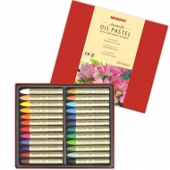 Набор профессиональной масляной водорастворимой пастели MUNGYO Aquarelle Oil Pastel (Extra Soft Water Soluble), 24 цвета