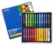 Масляная пастель MUNGYO Oil Pastel художественная, круглая, набор из 24 цветов