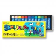 """Набор масляной пастели для начинающих """"Semi Jumbo"""" MUNGYO, 12 цветов, в желтой картонной коробке"""