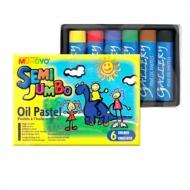 """Набор масляной пастели для начинающих """"Semi Jumbo"""" MUNGYO, 6 цветов, в желтой картонной коробке"""