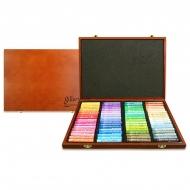 Набор мягкой масляной пастели GALLERY Artists Soft Oil, 72 цвета, круглая, в деревянной шкатулке