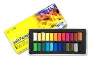 Пастель мягкая для детей и взрослых MUNGYO Soft Pastel Mini 1/2 длины, 24 цвета