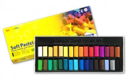Пастель мягкая для детей и взрослых MUNGYO Soft Pastel Mini 1/2 длины, 32 цвета