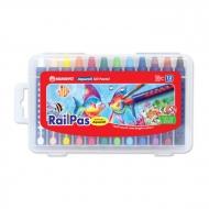 Набор масляной пастели с эффектом акварели Mungyo RailPas-Aquarell Oil Pastel 12 цв., в пластиковом чемоданчике