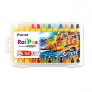 Набор масляной пастели Mungyo RailPas 12 цв., в пластиковом чемоданчике