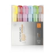 Набор акриловых маркеров Montana Acrylic fine 2mm Основные цвета B 12 шт