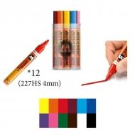 Набор художественных акриловых маркеров 227HS Main-Kit I MOLOTOW, 12 цветов, 4 мм