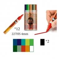 Набор художественных акриловых маркеров 227HS Main-Kit II Molotow, 12 цв, 4 мм