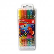 Восковые мелки для рисования детские MUNGYO с выдвижным стержнем 6 цветов