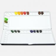 "Палитра для акварельных красок Mijello ""Silver Nano 40"", 390х165х35 мм, пластик"