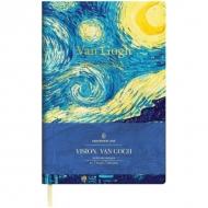 Записная книжка Greenwich Line Vision.VanGogh, формат А5, 80 л., обложка кожзам, тонированная бумага