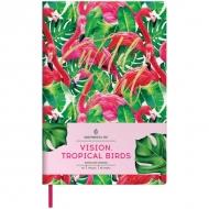 Записная книжка Greenwich Line Vision.Tropicalbirds, формат А5, 80 л., обложка кожзам, тонированная бумага