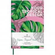 Записная книжка Greenwich Line Vision.Tropicaltrend, формат А5, 80 л., обложка кожзам, тонированная бумага
