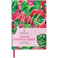 Записная книжка Greenwich Line Vision.Tropicalbirds, формат А6, 80 л., обложка кожзам, тонированная бумага