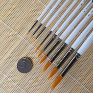 Универсальные кисти синтетика круглые НЕВСКАЯ ПАЛИТРА, длинная ручка, поштучно
