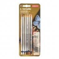 Набор акварельных карандашей Derwent Metallic Traditional, 6 цветов металлик