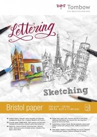 Альбом для рисования Tombow Bristol гладкая белая бумага 250г/кв.м, 21х29,7 см, 25л