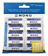 Набор ластиков Tombow MONO XS, 10 шт.