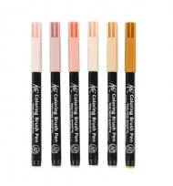 """Набор акварельных маркеров для рисования манги """"Оттенки кожи"""" Koi Manga Sakura, 6 цв"""