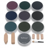 Набор ультрамягкой пастели PanPastel Tints Extra Dark Shades «Экстра-темные холодные», 10 цв.
