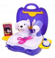 Чудо-чемоданчик. Набор для ухода за домашним питомцем (с собачкой)