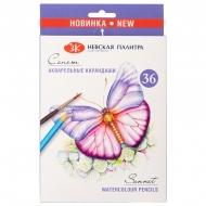 Карандаши акварельные Сонет, набор 36 цветов