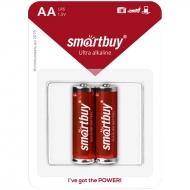 Батарейка SmartBuy AA (LR06) алкалиновая, BC2 (2шт. упаковка)