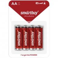 Батарейка SmartBuy AA (LR06) алкалиновая, BC4 (4шт. упаковка)