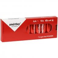 Батарейка SmartBuy AA (LR06) алкалиновая, (10шт. упаковка)