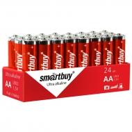 Батарейка SmartBuy AA (LR06) алкалиновая, OS24 (24шт. упаковка)