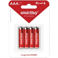 Батарейка SmartBuy AAA (LR03) алкалиновая, BC4 (4шт. упаковка)