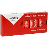Батарейка SmartBuy AAA (LR03) алкалиновая, (10шт. упаковка)